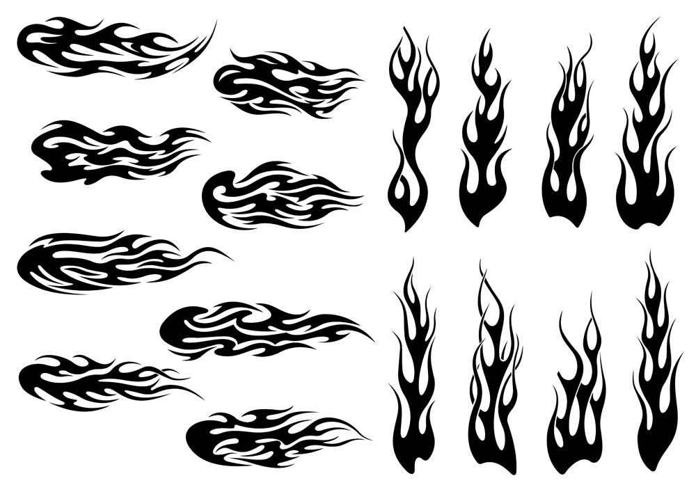 黑色火焰纹身图案