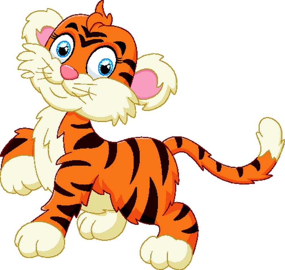 可爱小老虎矢量素材下载-卡通形象-矢量人物-矢量