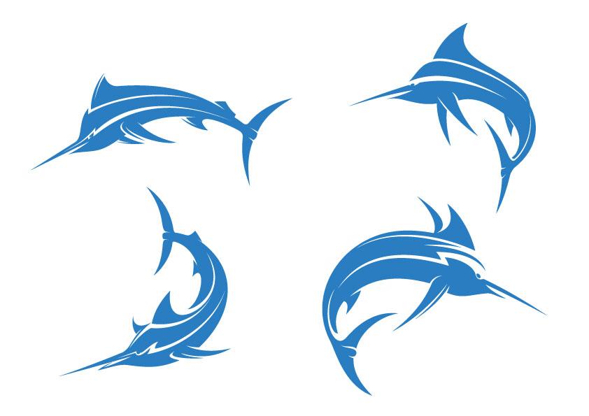 蓝色箭嘴鱼图案图片下载,蓝色箭嘴鱼图案模板下载,箭嘴鱼,创意鱼,鱼图片