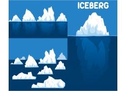 立体冰山图案图形矢量素材下载-自然风光-空间环境