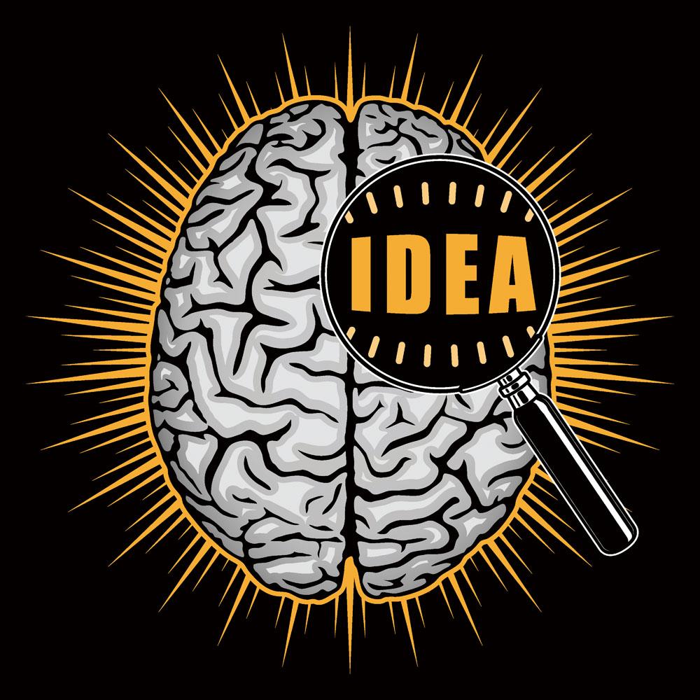 发光的大脑创意主题图片图片