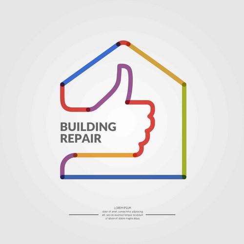 房子与大拇指标志设计图片下载,顶呱呱手势,大拇指,卡通房子logo设计图片