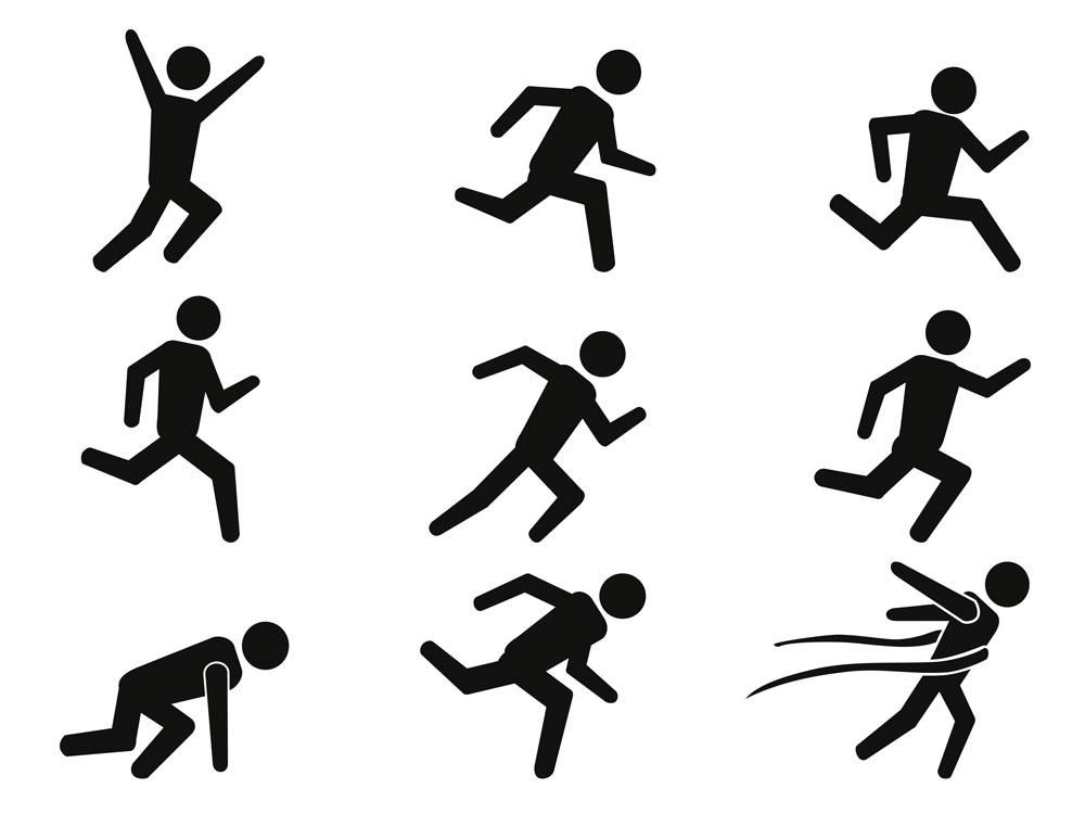运动标志矢量素材下载-体育运动-生活百科-矢量素材图片