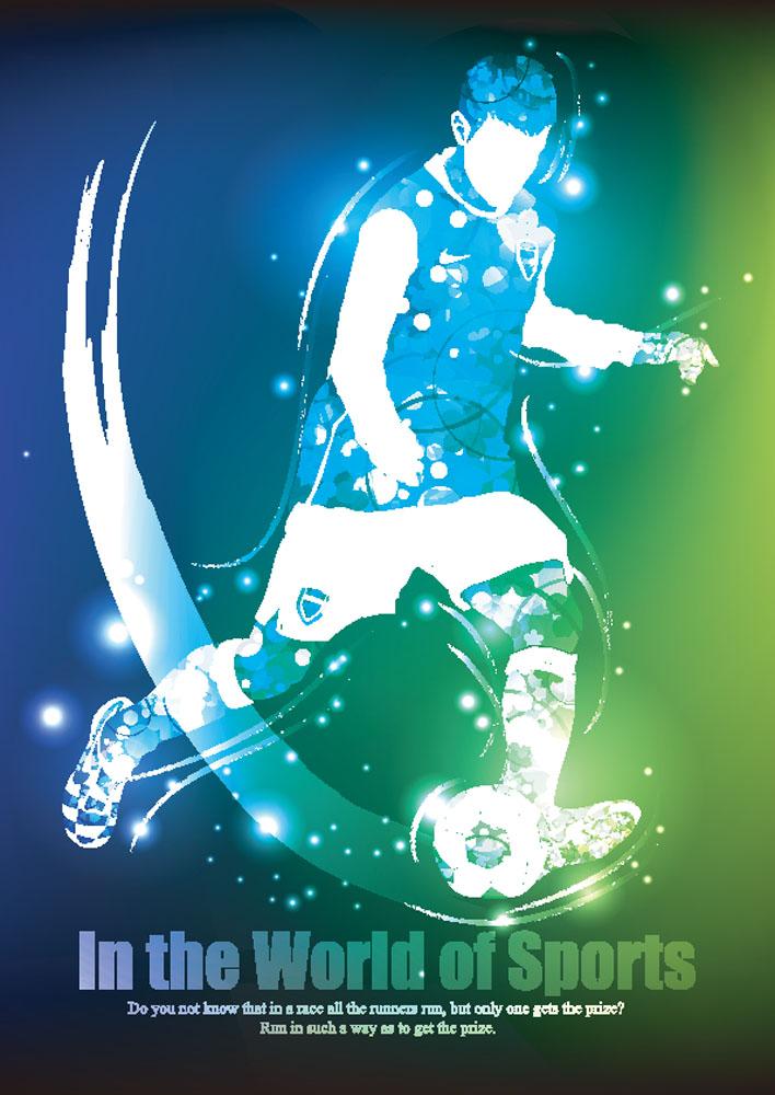 足球运动矢量素材下载-卡通形象-矢量人物-矢量素材