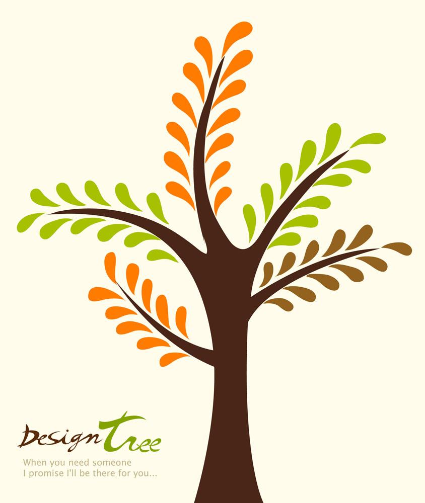 绿色树,植树节,创意树木,抽象树木,卡通树木,卡通植物,手绘,卡通,花草图片
