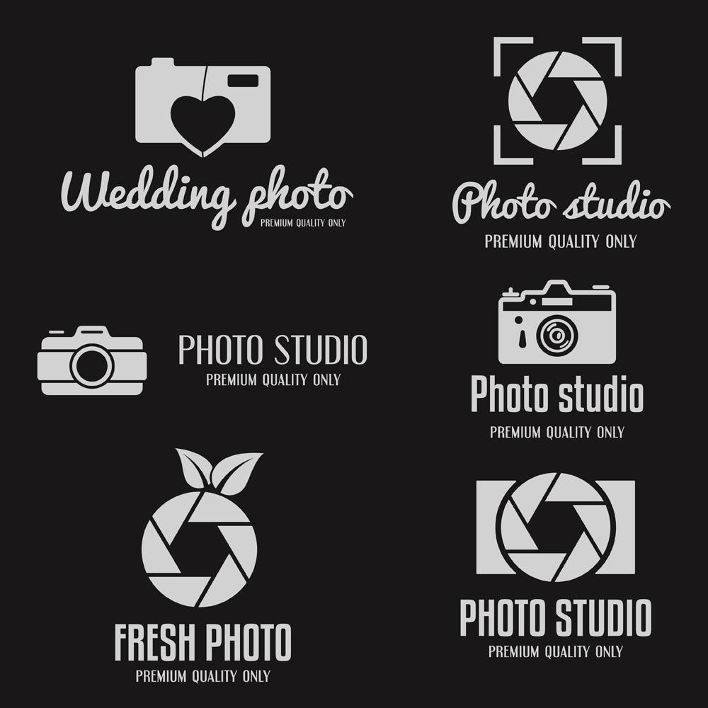 黑白照相机标志,个性创意标志,炫彩logo设计,创意logo图形,几何图形图片