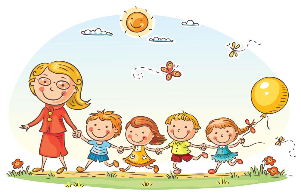 卡通儿童,卡通人物漫画,卡通人物插画,人物插图,卡通形象,牵着小朋友图片