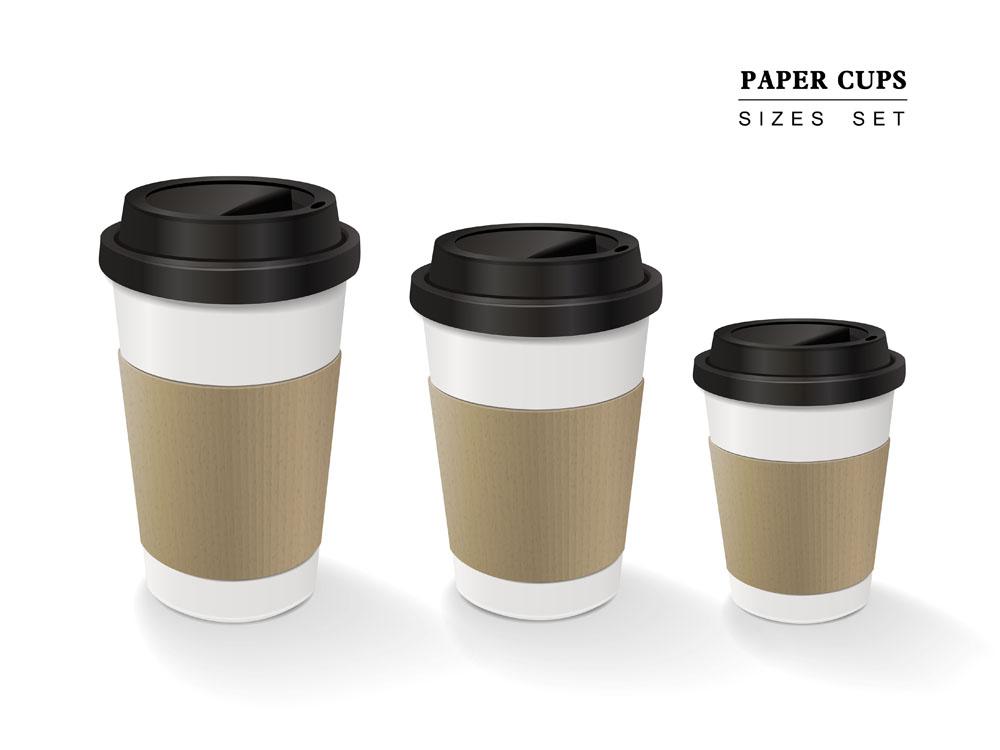 咖啡纸杯设计图片图片