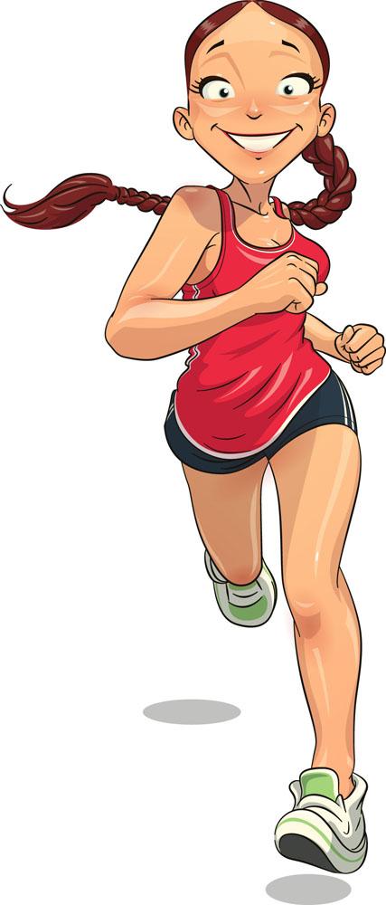 卡通运动女人图片图片