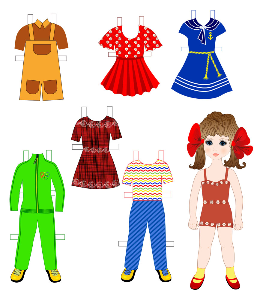 卡通女生,小女孩,衣服,裙子,裤子,童装,女童服饰,卡通儿童漫画,人物图片