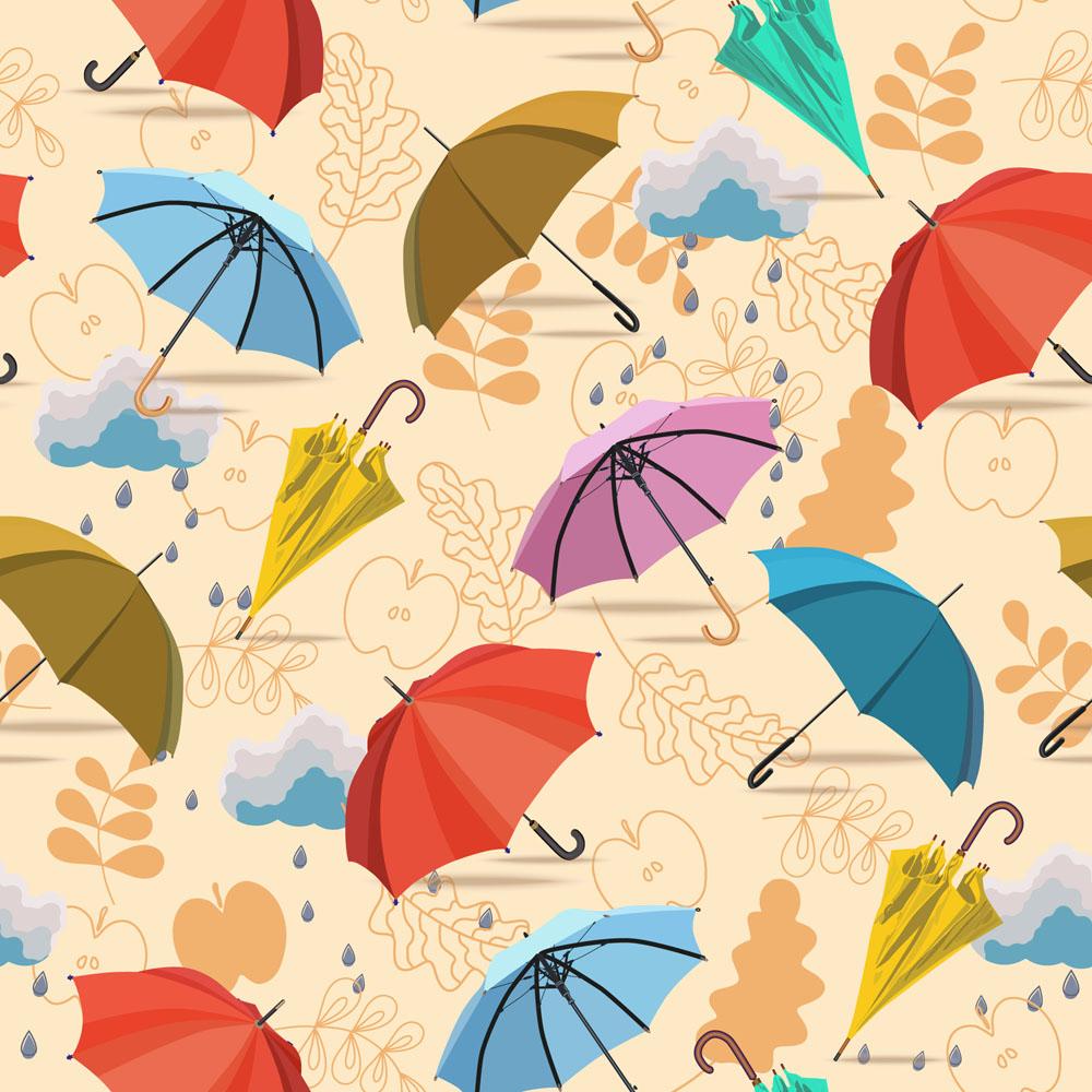 其他 彩色卡通伞,雨伞,大伞,小伞,遮阳伞,伞插画,雨伞背景,线条画背景图片