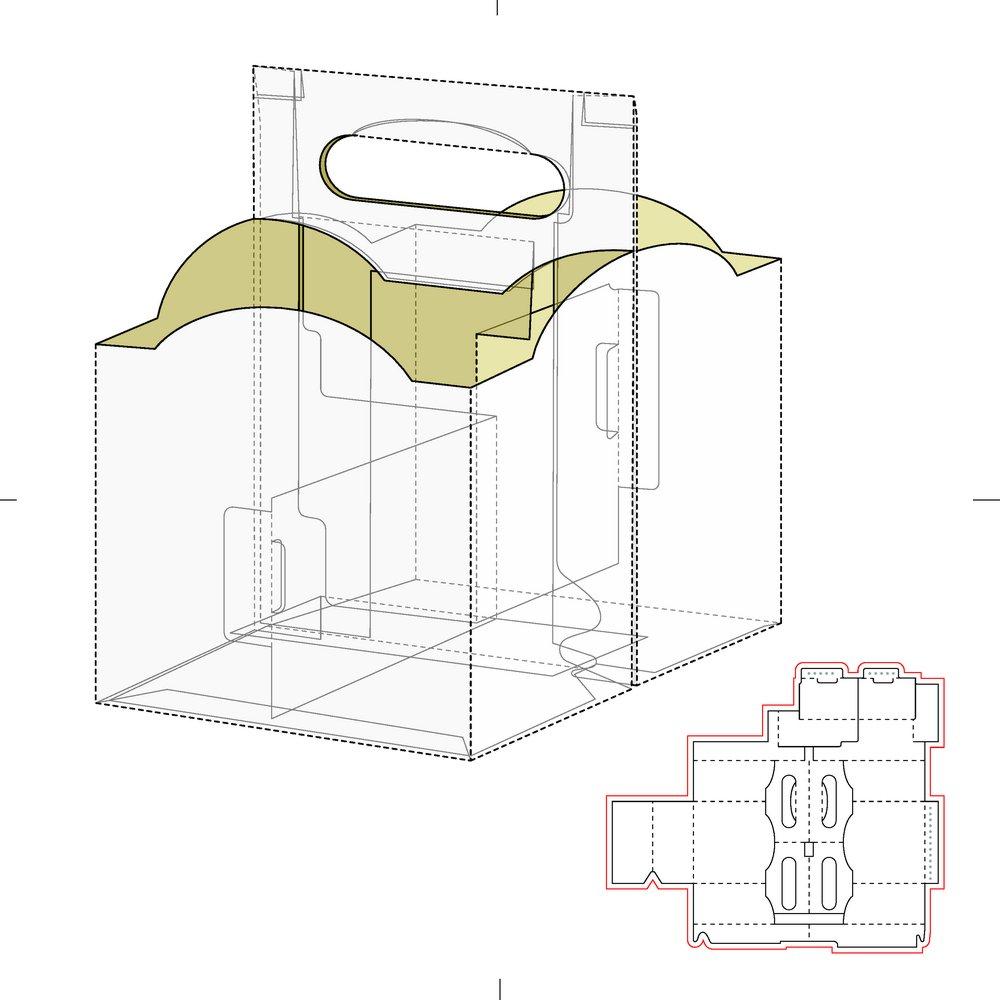 异形盒子展开图矢量素材下载-包装设计-广告设计