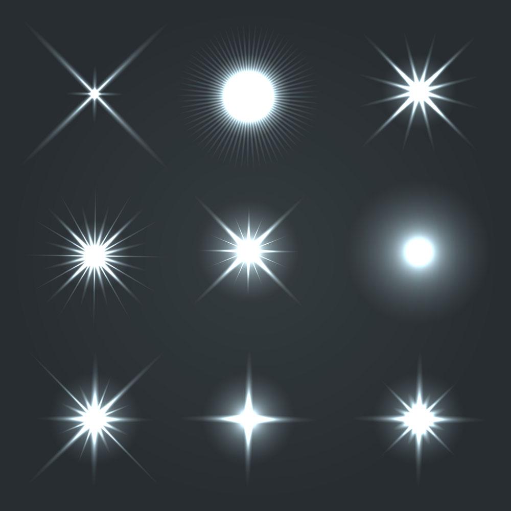 五方夹�jy��9��n'_矢量光点素材图片