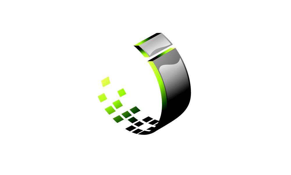 灰色科技曲线标志