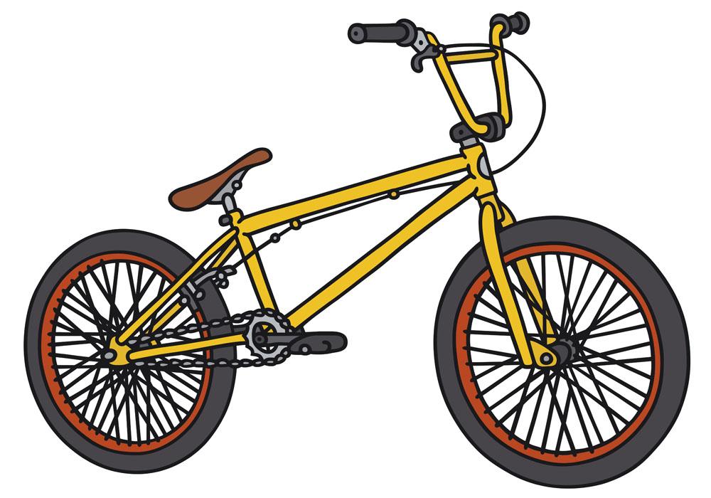 卡通自行车漫画矢量素材下载-交通工具-现代科技-矢量素材 - 集图网图片