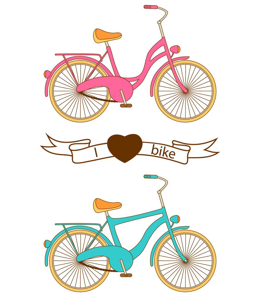 自行车图片卡通_卡通版的人和自行车-99信息港图片