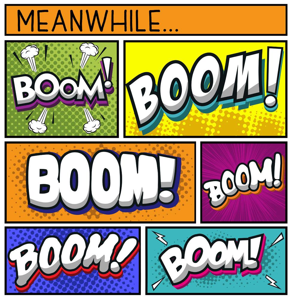 字母可爱动作漫画书画素材下载-矢量文字-文化字体漫画图片图片