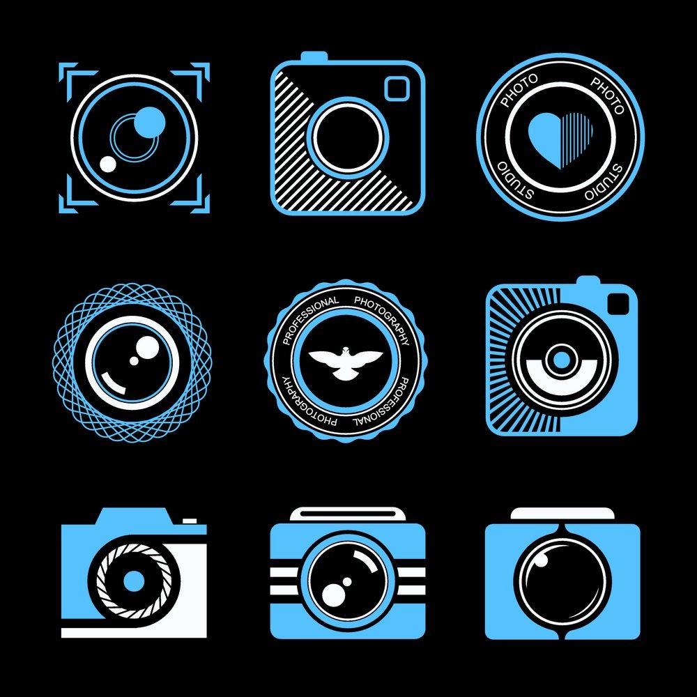 照相机标志矢量图片,照相机,个性炫彩标志,标志图形,logo设计,创意图片