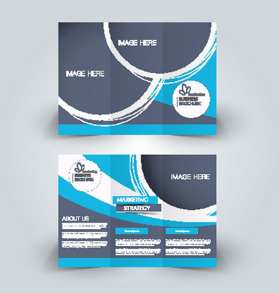 矢量传单三圆形设计折页素材下载-字体|折页-广怎么设计蓝色时尚设计图片