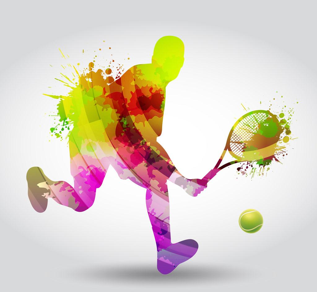 网球剪影_网球剪影女性tennissilhouet