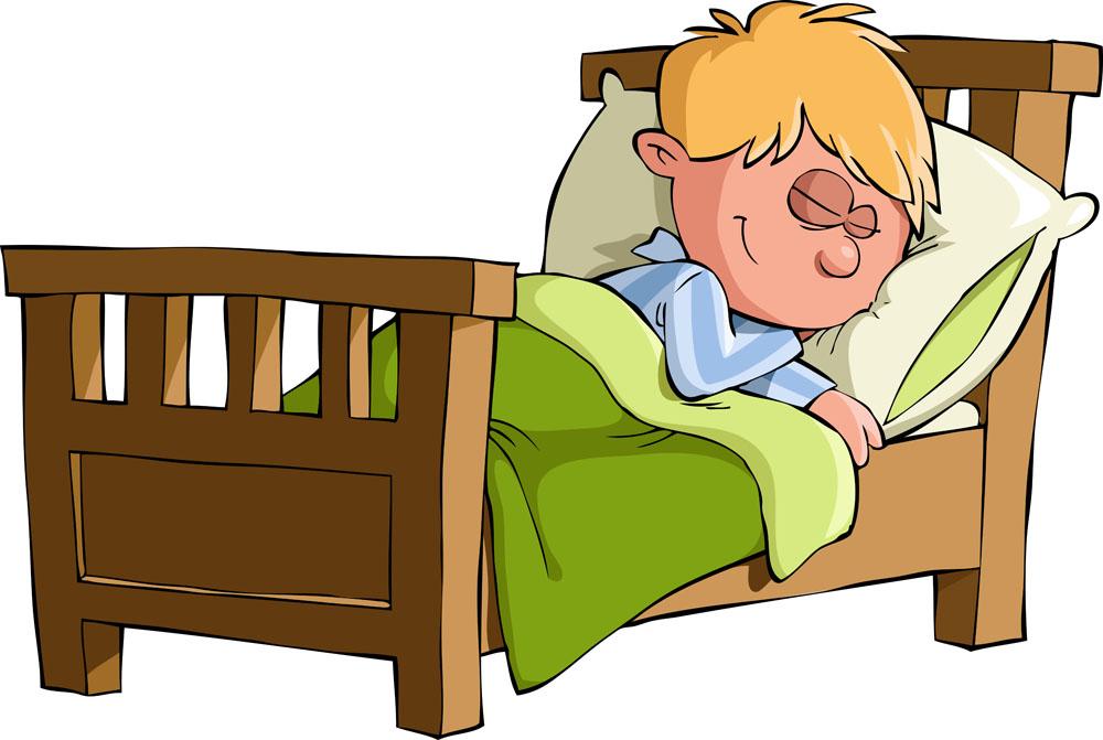 木床上睡觉的小男孩卡通插图图片下载,木窗,睡觉,小男孩,卡通人物图片
