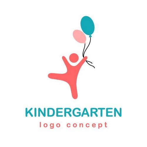气球儿童标志设计图片图片