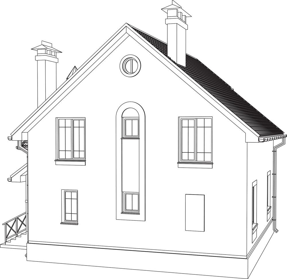 别墅房屋线框透视效果图黄岛沙滩v别墅别墅图片